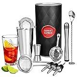 Premium barman cocktails kit, avec 10 accessoires (Pilon de cocktail,...