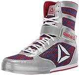 Reebok Men's Boot Boxing Shoe, Silver/Primal red/Crushed Cobalt/White, 11.5 M US