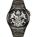 Bulova Classic Automatic Mens Stainless Steel Maquina, Gray (Model: 98A179)