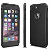 Luxury Shockproof Rugged Rubber Hard Case Cover for Apple iPhone 7 6 6S Plus 5 5S SE (Black, iPhone 6 / 6S)