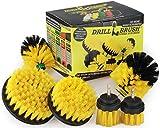Drill Brush Perceuse Puissance 6 pièces jaune - Nettoyage Tapis de voiture...