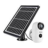 Security Camera Outdoor Wireless WiFi, ZUMIMALL Solar Powered Surveillance Camera with Rechargeable...