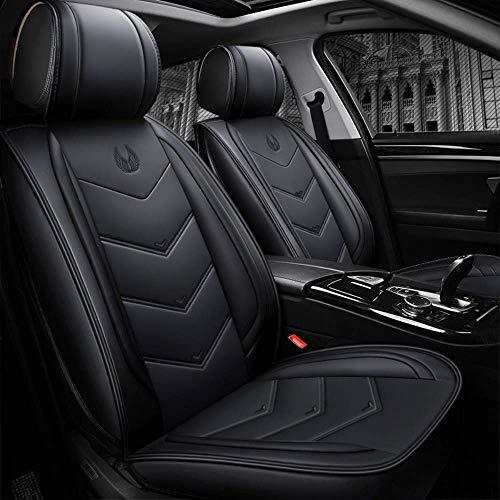 Chemu - Set di coprisedili per auto, in pelle PU, per Mercedes Benz W203 W204 W205 W211 W212 W213 W124 GLK GLC W164 W166 GLE (nero)
