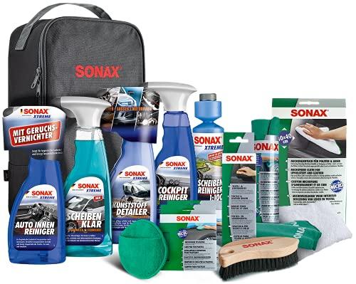 SONAX Innenraum+Scheibe-Set mit Tasche zur Reinigung aller Flächen im...