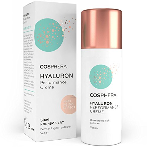 Cosphera - Hyaluron Performance Creme 50 ml - vegane Tages- und Nachtcreme...