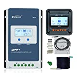 EPEVER MPPT Charge Controller 40A 12V/24V Upgrade Tracer4210AN + Remote Meter MT50 Monitor + RTS for...