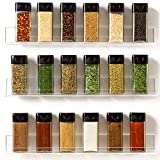 'Invisible' Acrylic Spice Rack Wall Mount Organizer [3 Pack 15' Shelves] Ultra-Clear Shelves, Strong, Sturdy & Space-Saving