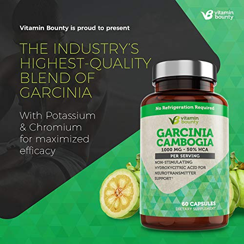 Garcinia Cambogia - by Vitamin Bounty - 100% Pure Extract - 60 Count - 1000mg 3