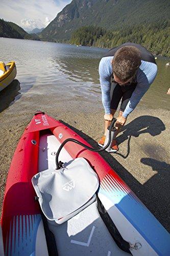 pump up the kayak with a pump