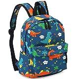 Zicac Children's Cute Canvas Backpacks Mini Rucksack Bag (M, Blue Dinosaur)