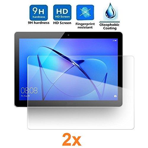REY Pack 2X Pellicola salvaschermo per Universal 10' (14,4 x 25,3 cm). Pellicole salvaschermo Vetro Temperato 9H+, di qualità Premium Tablet