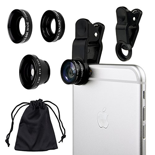 Camkix Universal 3 in 1 Cell Phone Camera Lens Kit
