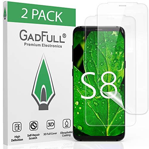 GadFull 2 Pezzi Pellicola salvaschermo Samsung Galaxy S8 | Pellicola Protettiva 3D autoriparante Scorrevole e ad Alta Definizione per la Riparazione dello Schermo