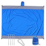 Voicrown Sand Free Beach Blanket, 10'X 9' for 7 Adults Oversized Beach Mat, Extra Large Compact Sand Proof Magic Mat Quick Drying, Lightweight, Durable for Travel, Camping, Hiking and Music Festivals