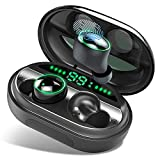 Wireless Earbuds, Bluetooth 5.0 Headphones IPX8 Waterproof Earbuds, 150 Playtime, in Ear Headphones with Microphone, Deep Bass 3D Stereo Sound, Noise Canceling, Sports, Work Out, Easy Pairing