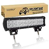 AUXTINGS 30,5 cm 72W LED Barre de lampe de travail Flood spot Off Road...