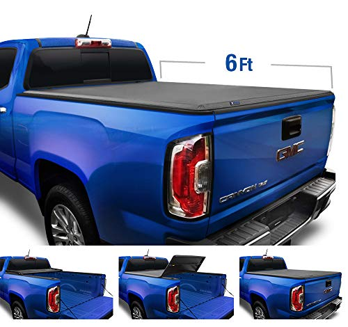 Tyger Auto T3 Soft Tri-Fold Truck Bed Tonneau Cover for 2015-2020 Chevy Colorado/GMC Canyon Fleetside 6'2' Bed TG-BC3C1040