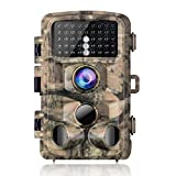 """【2020 Upgrade】Campark Trail Camera-Waterproof 16MP 1080P Game Hunting Scouting Cam with 3 Infrared Sensors for Wildlife Monitoring with 120°Detecting Range Motion Activated Night Vision 2.4"""" LCD 42pcs"""