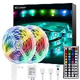 Ksipze Ruban LED 10M, Bande LED 300 LEDs 5050 RGB Guirlande Lumineuse...
