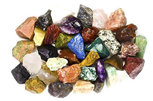 Hypnotic Gems 12 Pounds of Bulk Rough India Stone Mix - Over...