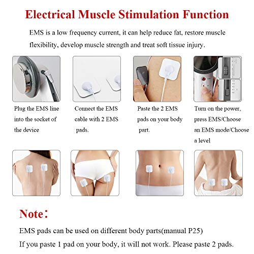 Fat Remover Machine 3 in 1 EMS Weight Loss Massager Body Sliming Device for Arms Waist Abdomen Hip Legs Massage Skin Tightening Firming Sili Technology 5