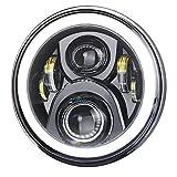 VTR250ヘッドライト,PXPART LED 7インチ ヘッドライト Hi/Loビーム デイライトDRL機能付き CB400SF CB1100 CB750ホンダバイク対応