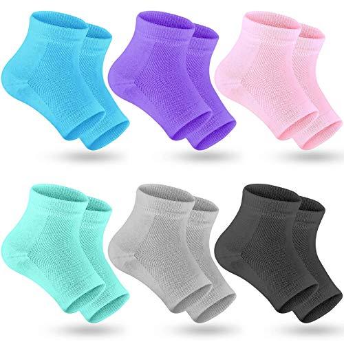 Selizo 6 Pairs Heel Moisturizing Socks Open Toe...