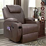 Furniwell Recliner Chair Massage Leather Living Room Chair Home...