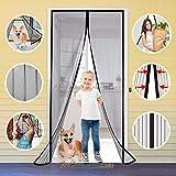 Magnetic Screen Door Retractable Mesh for Standard American 80' x 36' to 82' x 38' Size Doors Pet Net Patio Hands Free Magic Automatic Self Sealing Closing Closure