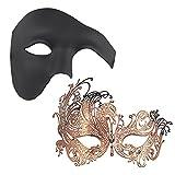 Thmyo Masques de Mascarade Magnifiques du Couple de 2 pièces, Masque...