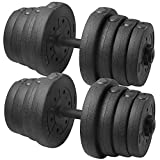 Topeakmart 66LB Adjustable Dumbbell Weight Set Home Gym Barbell Plates Muscle Body Training