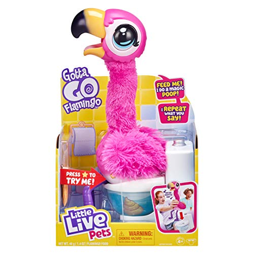 Little Live Pets Gotta Go Flamingo | Interactive Plush Toy