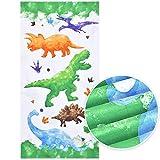 Serviette de Plage Dinosaure - 76 × 152cm Microfibre Serviettes de Bain Enfants légère Absorption...