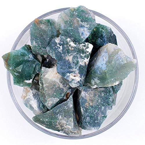 Zenkeeper 1Lb Raw Moss Agate Crystal Stone Rough Gemstones...