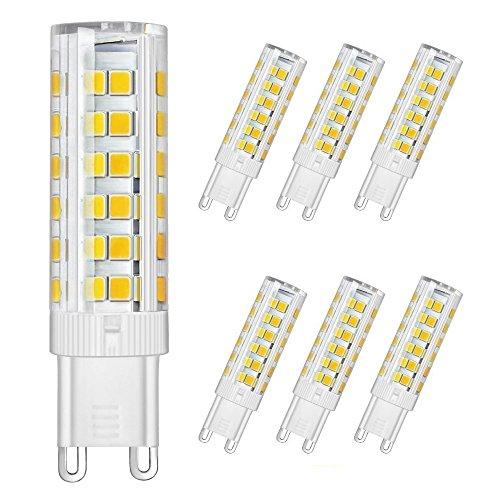 DiCUNO LED電球 G9口金 セラミックス LEDランプ 調光不可能 5W 500lm 全方向照明 3000K 電球色 50Wハロゲ...
