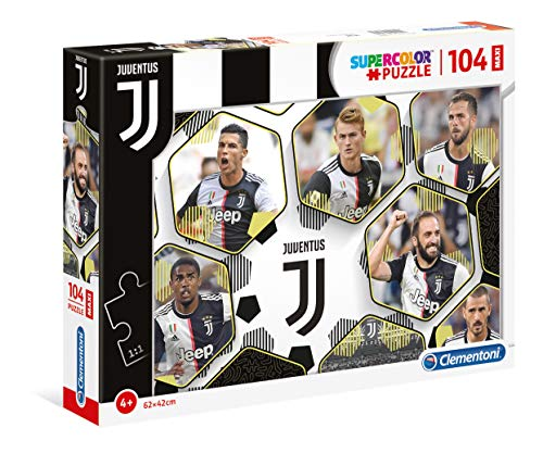 Clementoni - 23743 - Supercolor Puzzle - Juventus 2020 - 104 Maxi Pezzi - Made In Italy - Puzzle...
