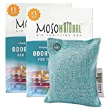 MOSO NATURAL Air Purifying Bag for The Refrigerator. Freezer and Fridge Odor Eliminator. More Powerful Than Baking Soda. (2) Individually Sealed Bags