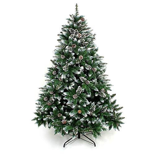 Yorbay Weihnachtsbaum Tannenbaum mit Ständer 120cm-240cm für Weihnachten-Dekoration Mehrweg (Weihnachtsbaum mit Schnee, 150cm)
