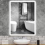 GROOFOO Miroir de Salle de Bain LED, 50x70cm Miroir Lumineux avec...