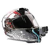 Motorcycle Helmet Mount Chin Strap Mount Helmet Adapter for GoPro Hero 8/7/6/5 Black,DJI Action Camera and More