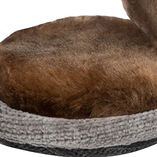 Surblue Unisex Warm Knit Earmuffs Ladies Outdoor Cashmere Winter Pure Color Fur Earwarmer