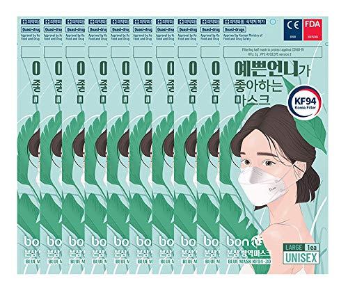 マスク KF94 イェップンオンニ 10枚セット PM0.4 高機能マスク 4層構造 韓国製 防曇 防塵 超快適 男女共用 ...