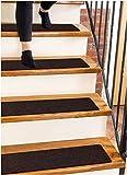 Carpet Stair Treads Non-Slip 8'x30' Brown - (15-Pack) Runners for Wooden Steps