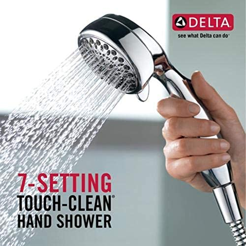 DELTA 7-Spray Touch-Clean Hand Held Shower Head with Hose, Chrome 75700 15