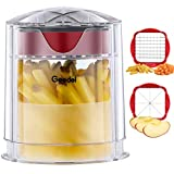 Geedel French Fry Cutter Apple Cutter, Easy to Clean Potato Cutter, Ultra Blades Dishwasher Safe Fry...