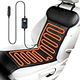 ELUTO Heated Seat Cushion for Car Seat Heater Universal 12V Car Seat Cushion with Time Temperature Controller Heated Seat Covers Car Seat Warmer for Truck Home Office Chair