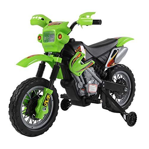 HOMCOM Moto Electrica Infantil Bateria 6V Recargable Niños 3 Años...