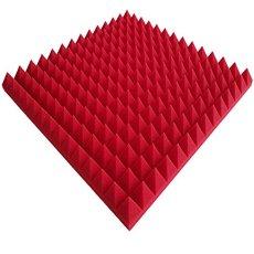 pannelli acustici Piramidi 1 x circa 49x49x5cm , pannelli acustici , pannelli acustici rossa colorazione ad acqua ecologico