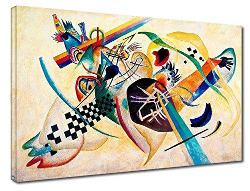 Quadro Kandinsky Composizione su Bianco - WASSILY KANDINSKY White composition - stampa su tela...