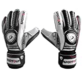 Youth&Adult Goalie Goalkeeper Gloves,Strong Grip for The Toughest Saves, with Finger Spines to Give Splendid Protection to Prevent Injuries,3 Colors (Black, 8)
